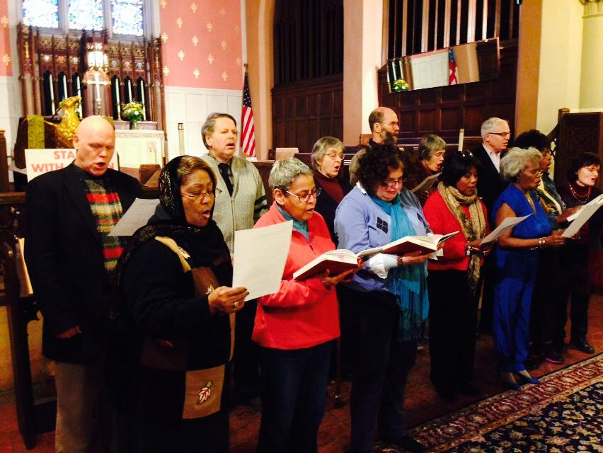 Chorus sings at 2014 MLK Day Commemoration