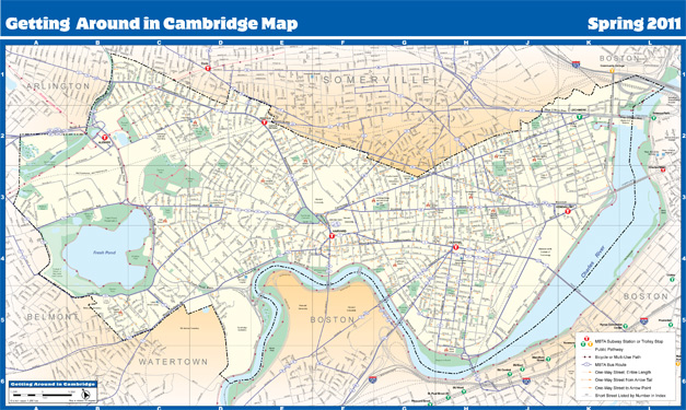Getting Around Cambridge street map