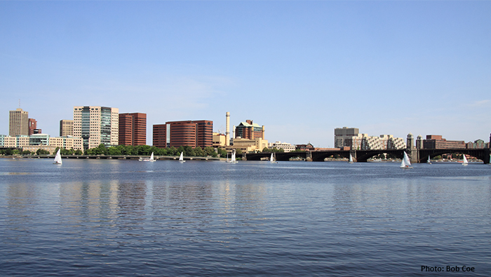 City from the Charles River by Bob Coe