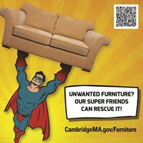Unwanted furniture? Our super friends can rescue it!
