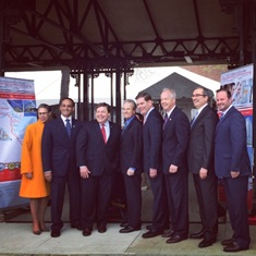 Picture of mayors from the Life Sciences Corridor announcement