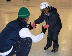 image of child learning to ice skate