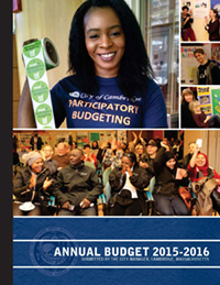 Cover of the FY16 Budget Book