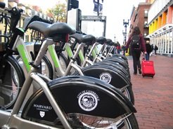 Hubway in Harvard Square