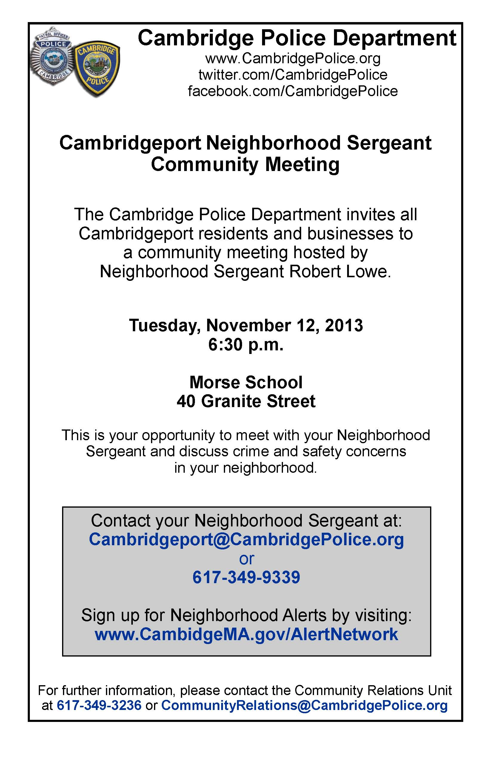 Cambridgeport Meeting