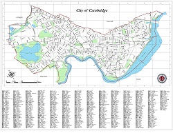Small Citywide base map of Cambridge