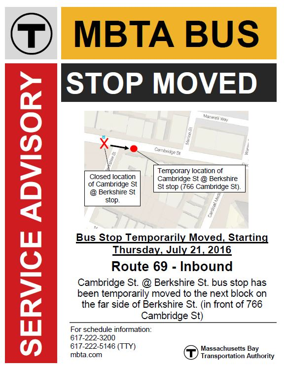MBTA Bus Stop Relocation