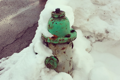 hydrant, snow, fire hydrant