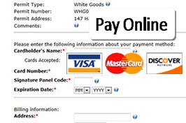 Pay online with Visa, Mastercard or Discover