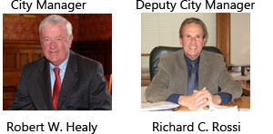 City Manager: Robert W. Healy. Deputy City Manager: Richard C. Rossi.