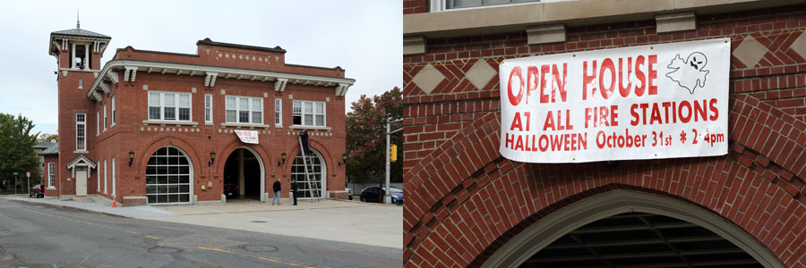 Images of open house for Halloween