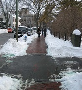 Image of snow shoveled sidewalk