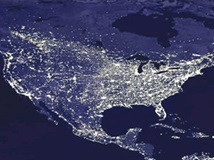 USA as seen from space at night