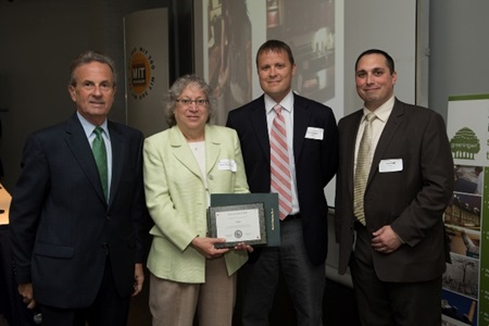 Amgen receiving their 2012 GoGreen Awards