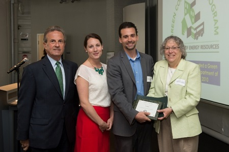 Tsoi/Kobus and Associates receiving their 2012 GoGreen Awards