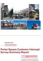 Porter Square Customer Intercept Survey Report cover