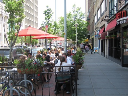 Outdoor Dining near Tavern on the Square in Central Square