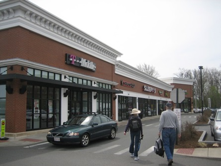 View of Fresh Pond Shopping Plaza
