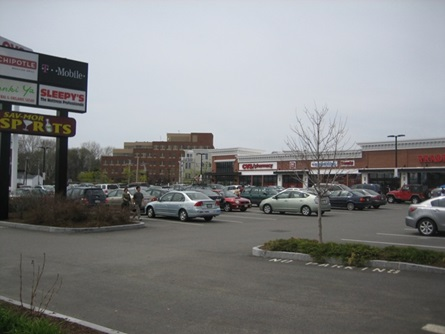 View of Fresh Pond Shopping Area