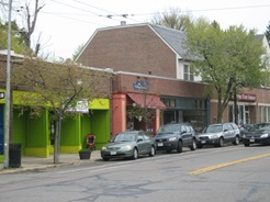 Storefronts along Huron Ave.