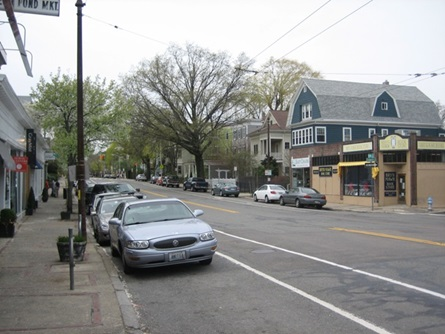 Full Street view of Small Businesses along Huron Ave.