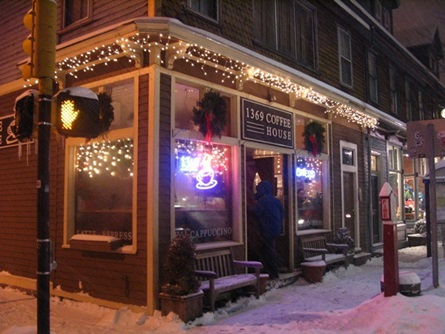 1369 Coffeehouse at night