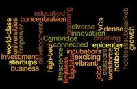 Economic development word cloud graphic