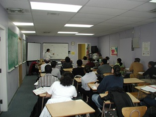Image of the classroom at the Bio-Med Program