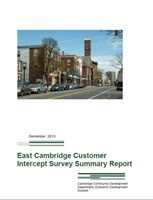 This is an image of the cover of the East Cambridge Intercept Survey Report