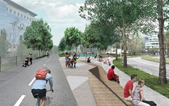 Rendering of proposed Binney Street Park