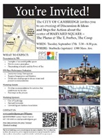 Flyer for Harvard Square Place Making Meeting