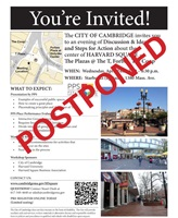 Harvard Square Placemaking April 24 2013 Meeting Postponed