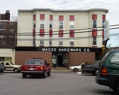 Masse Hardware, a longtime neighborhood business.