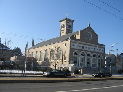 church building on North Mass Ave