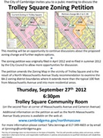 Trolley Square Rezining Flyer