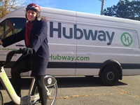 Winter Scene with Hubway Van