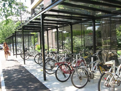 Bicycle Racks at Harvard Law School