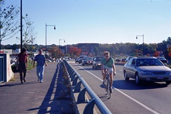 Bikes and Pedestrians on Alewife Brook Parkway
