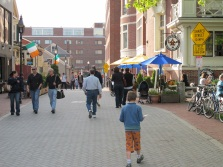 On foot in Harvard Square