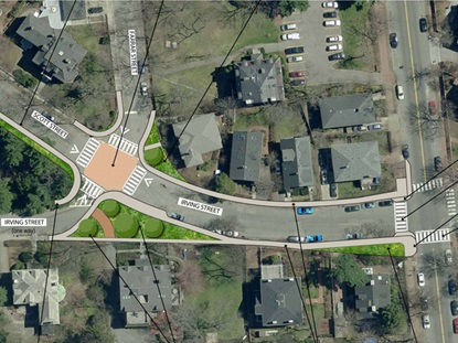 Scott and Irving Street traffic calming concept plan