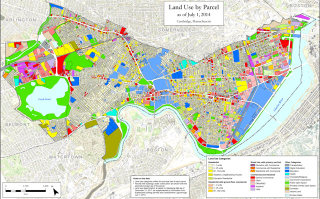 Cambridge land use map as of July 1 2014