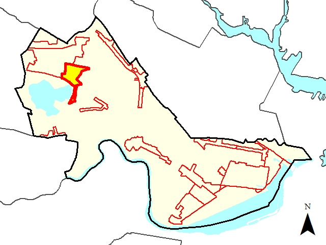 Fresh Pond Commericial District Locus Map