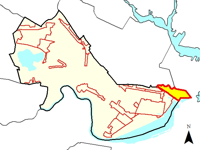 North Point Development District Locus Map