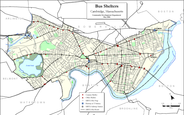 bus shelters map