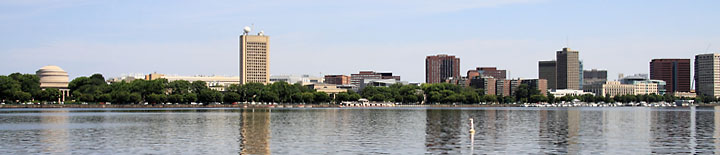 Cambridge from the Charles River - Photo by Bob Coe