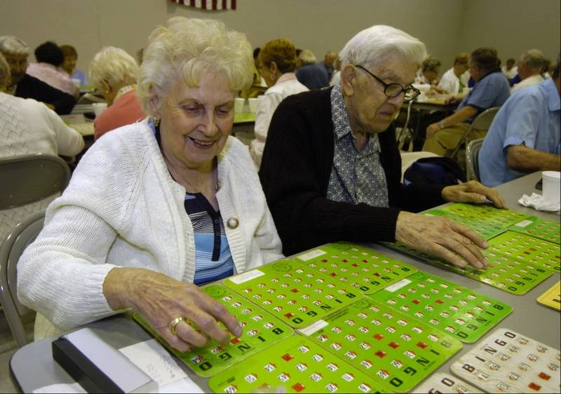 seniors at bingo