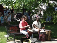 drummers in park