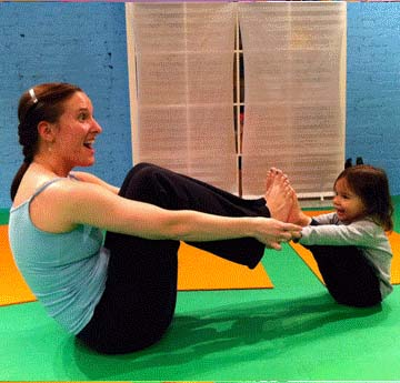 Image of mother and child at yoga