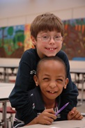 Two young boys in afterschool program