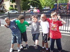 Children playing as a group during an afterschool program